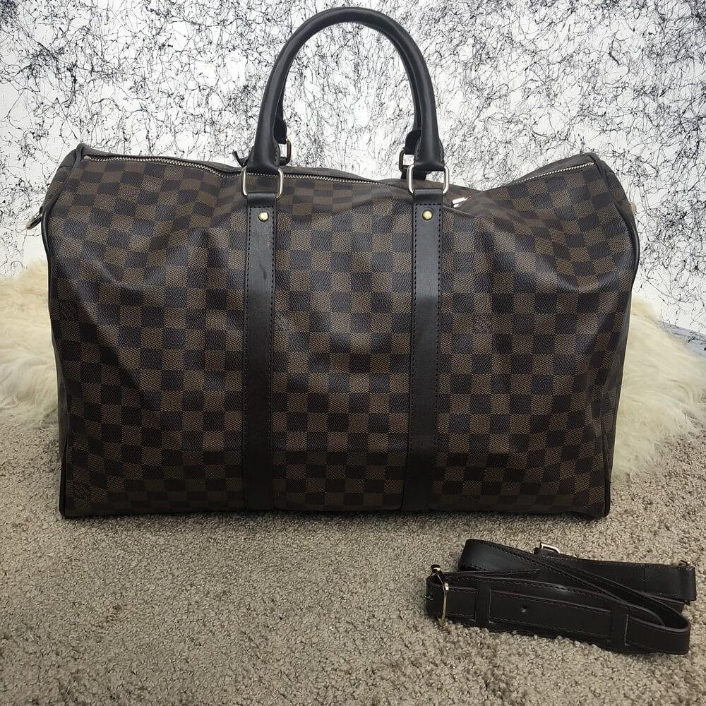 Softsided Luggage Louis Vuitton Keepall 50 Damier Ebene