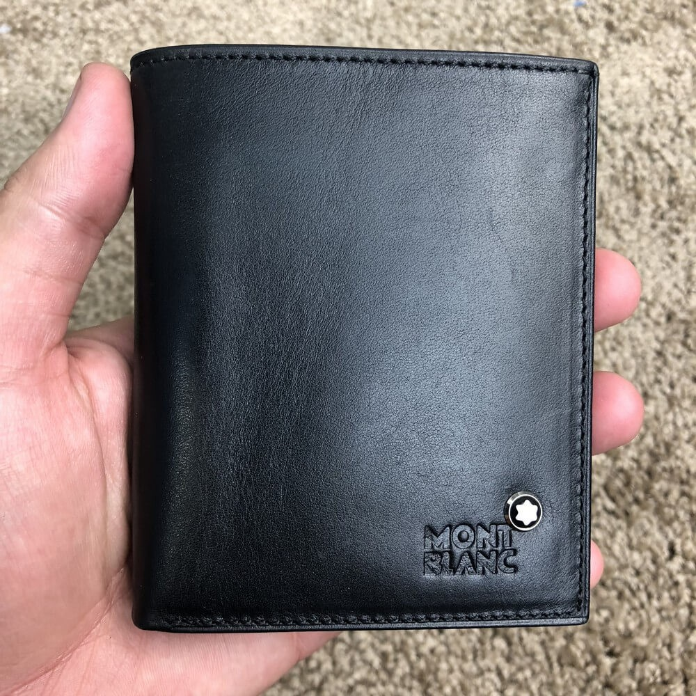 Montblanc Meisterstück Wallet 4cc with Coin Case Leather Black