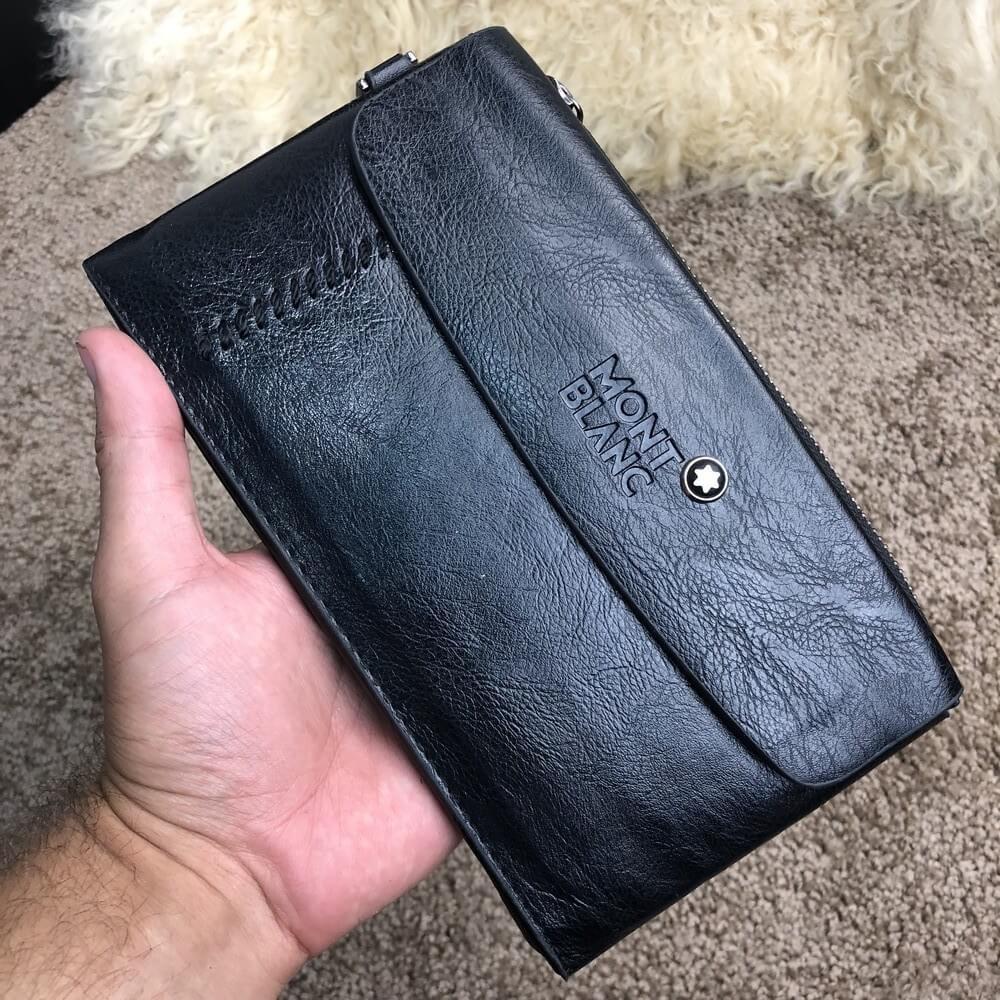 Montblanc Nightflight Slim Hang Wallet Leather Black