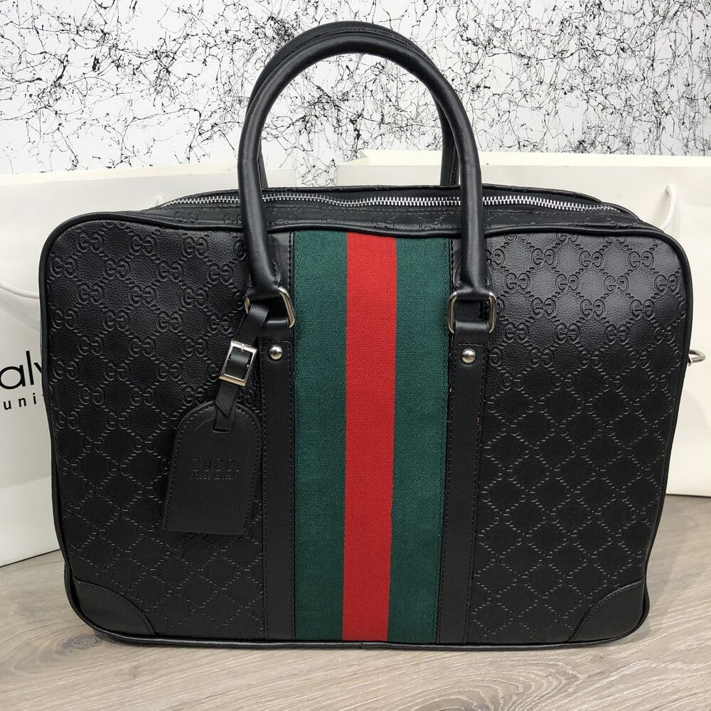 Bussines Bag Gucci GG Supreme Web 15 Black