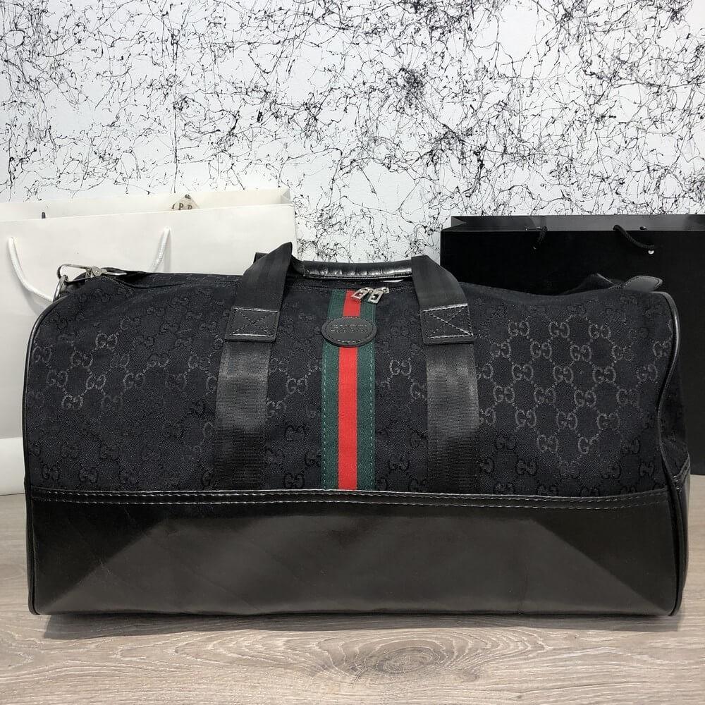 Softsided Luggage Gucci GG Supreme Web Canvas Xl Black