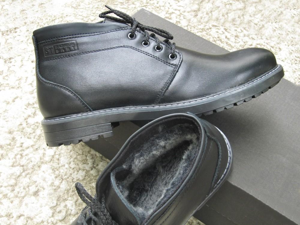 Мужские черные кожаные ботинки 2
