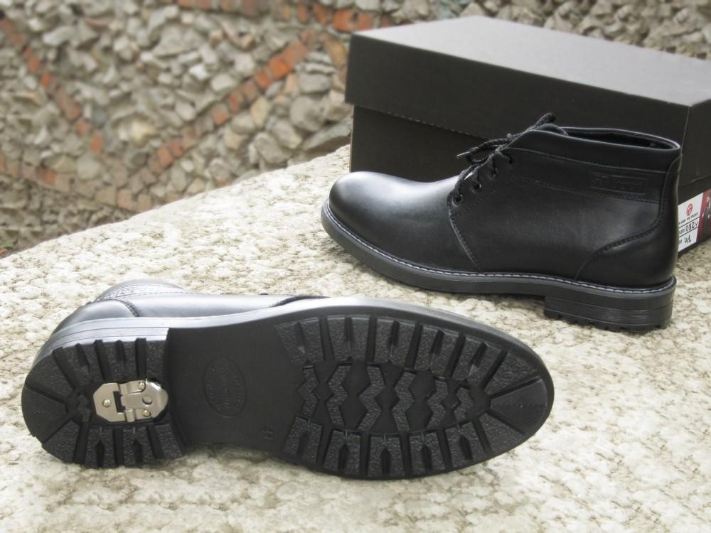 Мужские черные кожаные ботинки 3
