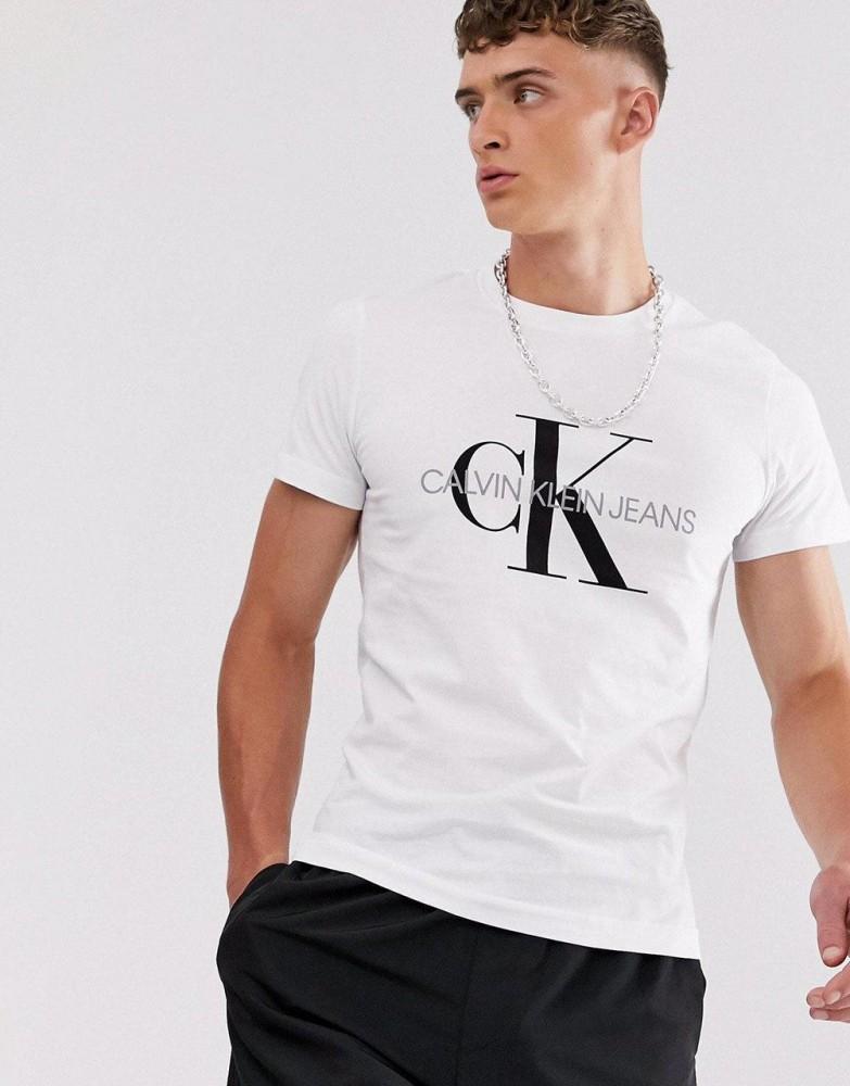 Футболка белая Calvin Klein большой принт