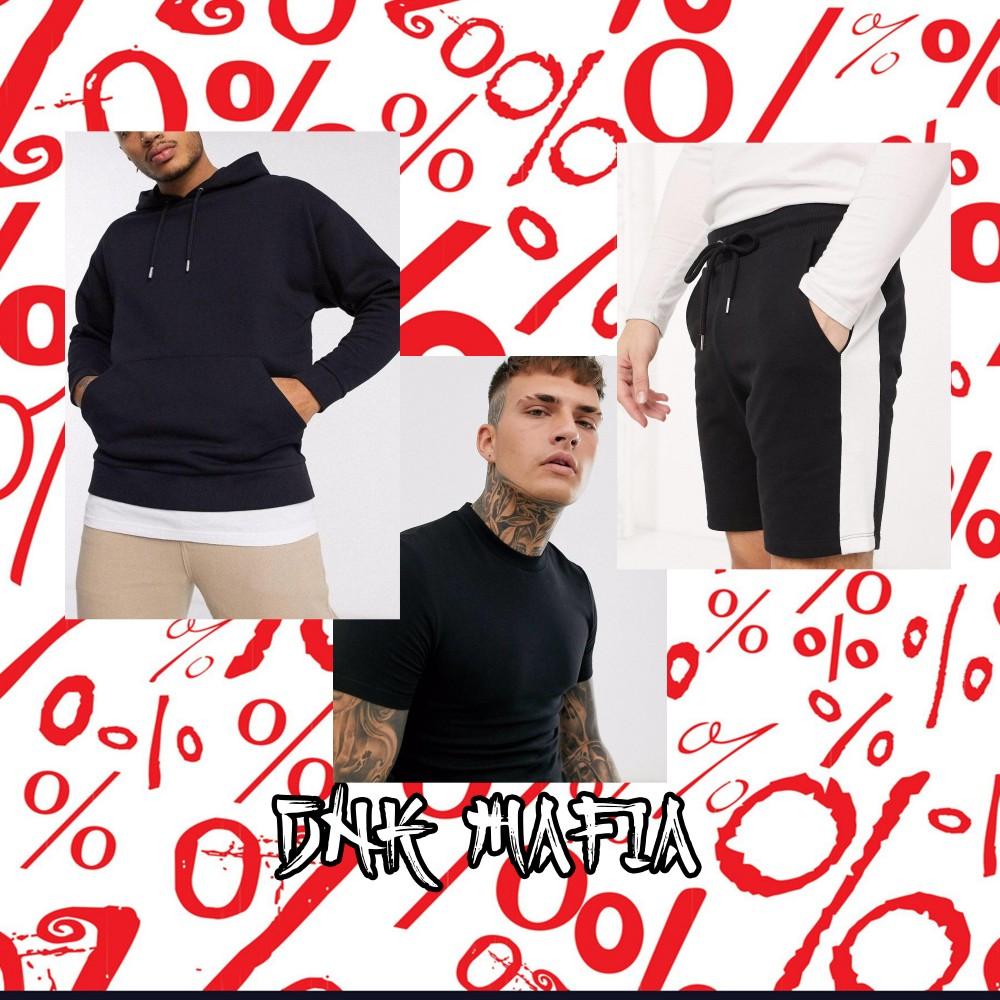 Летний набор DNK MAFIA №1 Худи черное, футболка черная, шорты черные